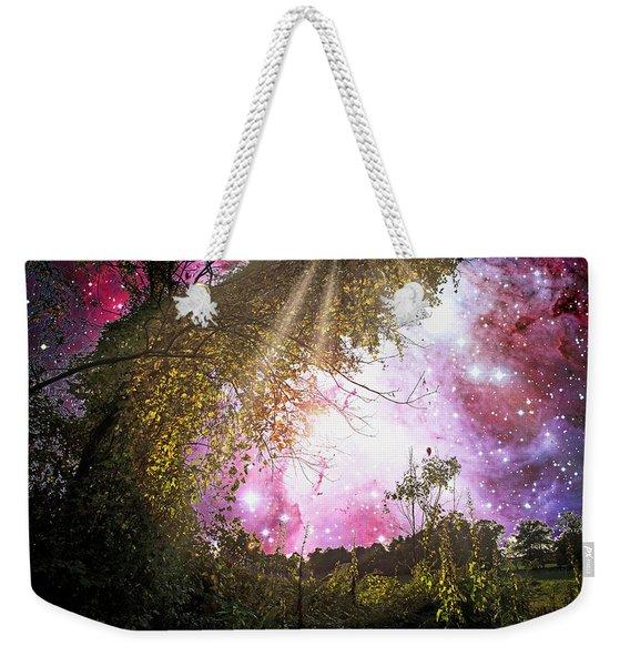 Meadow Starry Night Weekender Tote Bag