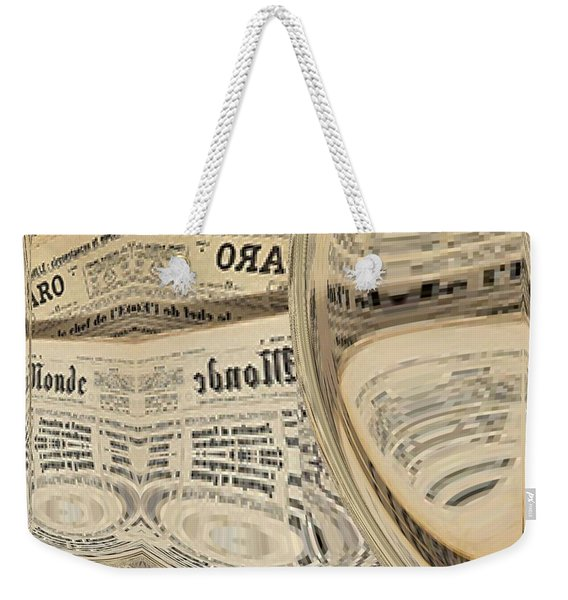 Weekender Tote Bag featuring the mixed media Media by A zakaria Mami