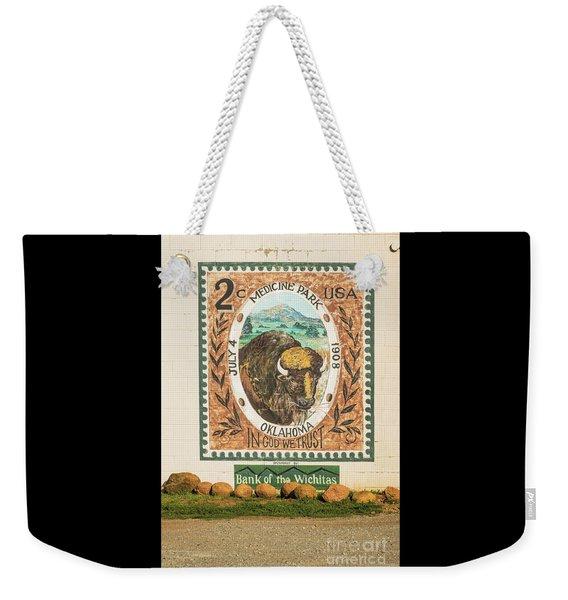 Medicine Park Stamp Mural Weekender Tote Bag