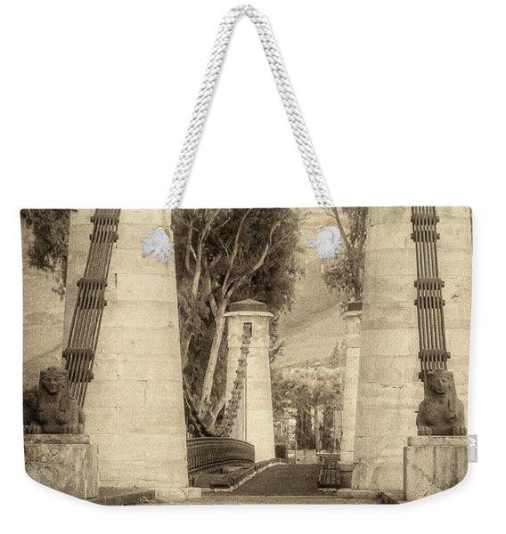 Medieval Bridge Weekender Tote Bag