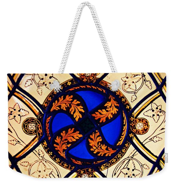 Medieval Stained Glass Abstract 3         Weekender Tote Bag