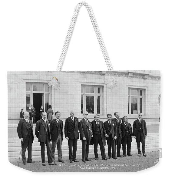 Members Of The World Disarmament Weekender Tote Bag