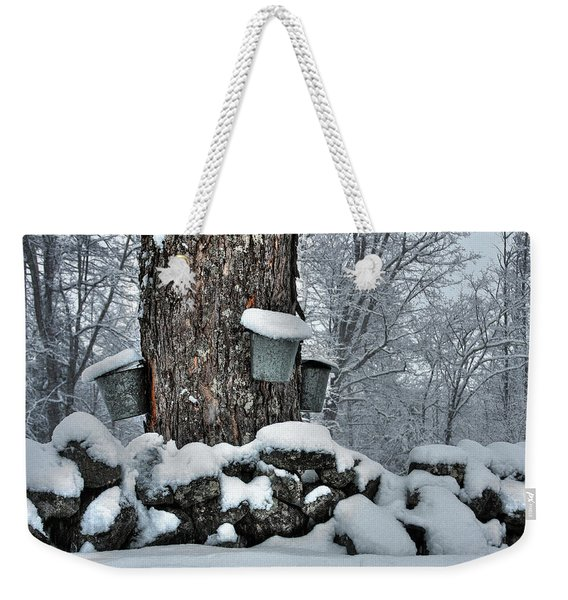 Weekender Tote Bag featuring the photograph Memories Of Sugaring by Wayne King