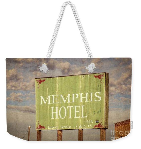 Memphis Hotel Sign Weekender Tote Bag
