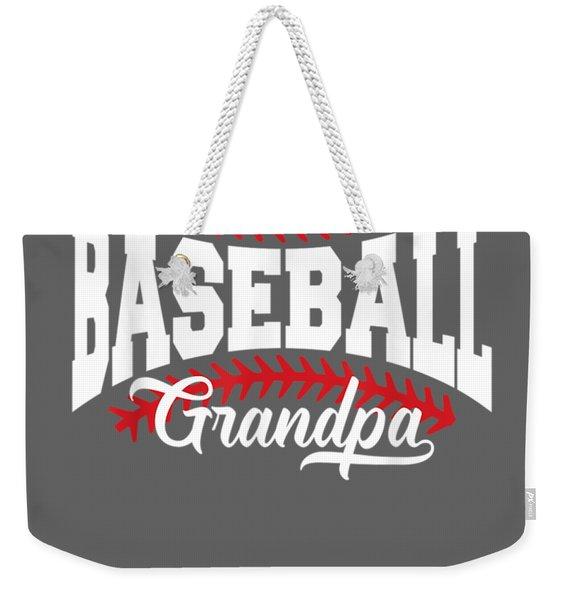 Mens Baseball Grandpa T-shirt Weekender Tote Bag