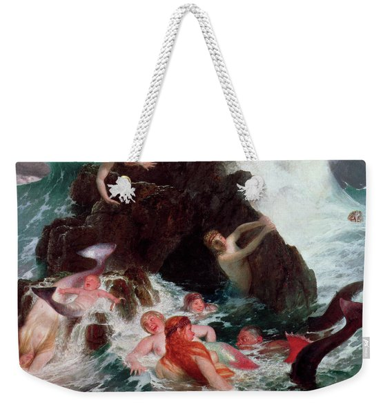 Mermaids At Play, 1886 Weekender Tote Bag