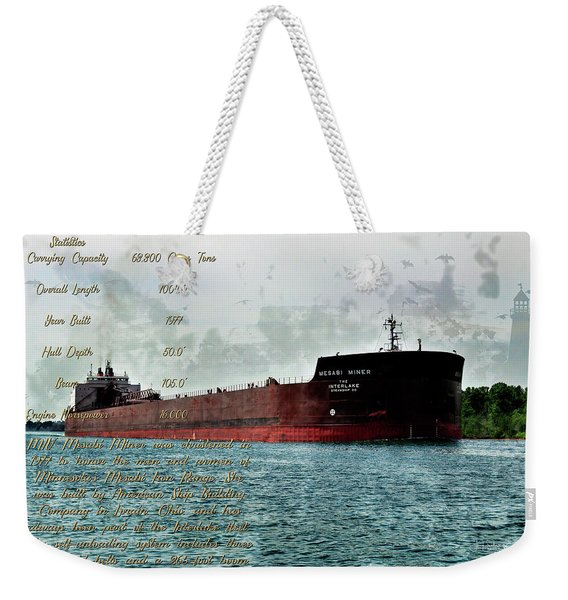 Mesabi Miner And Stats Weekender Tote Bag