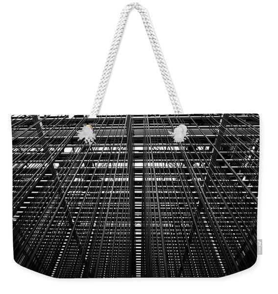 Metal Lines Weekender Tote Bag