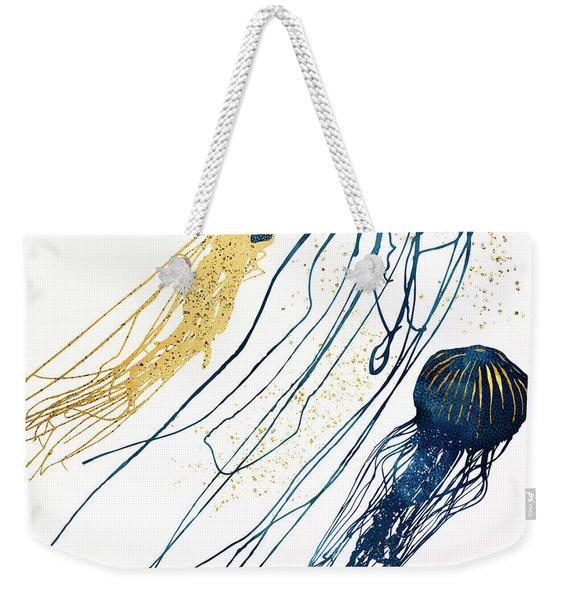 Metallic Jellyfish II Weekender Tote Bag