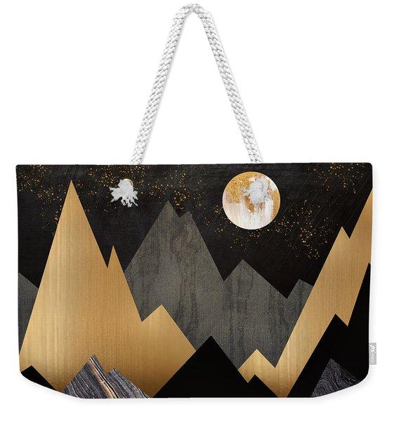 Metallic Night Weekender Tote Bag