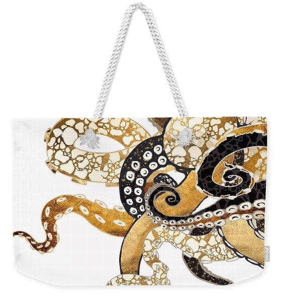 Metallic Octopus Weekender Tote Bag