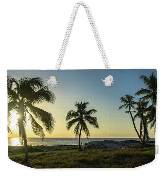 Mexico Palm Tree Sunrise Weekender Tote Bag