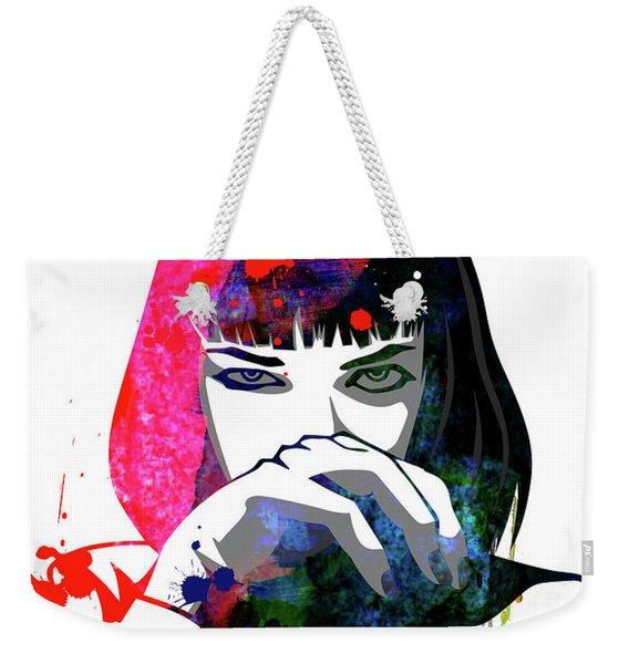 Mia Snorting Watercolor Weekender Tote Bag