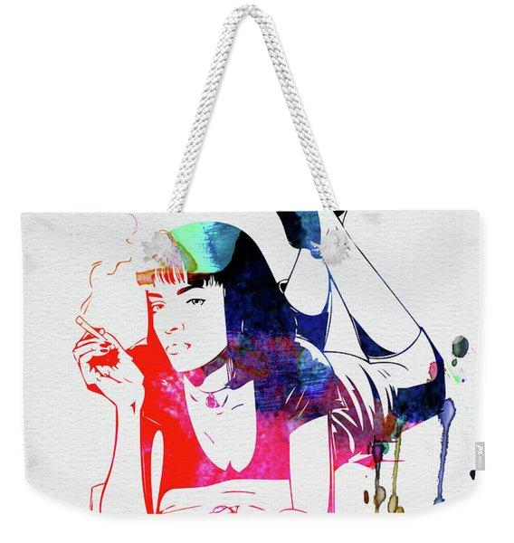 Mia Wallace Watercolor Weekender Tote Bag
