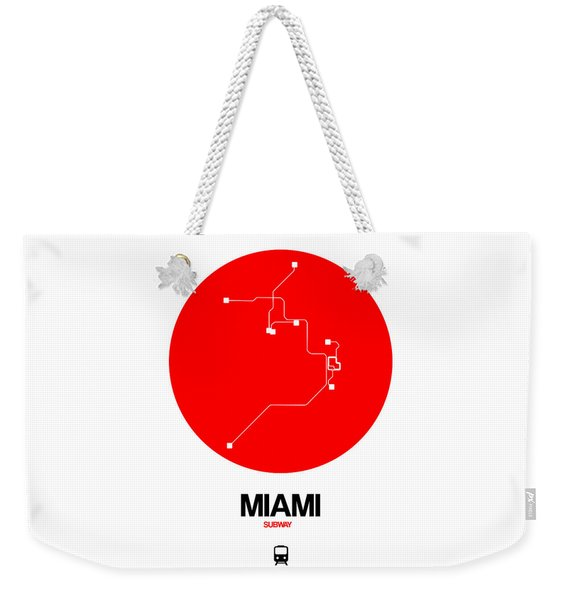 Miami Red Subway Map Weekender Tote Bag