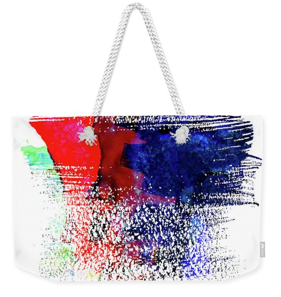 Miami Skyline Brush Stroke Watercolor   Weekender Tote Bag