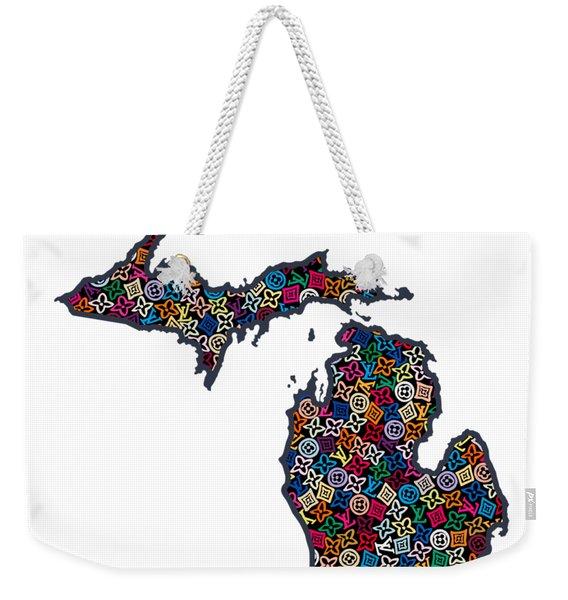 Michigan Map - 1 Weekender Tote Bag