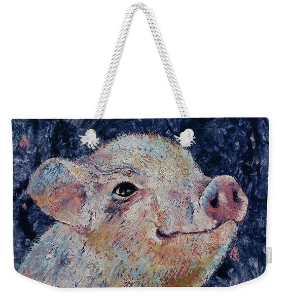 Micro Pig Weekender Tote Bag