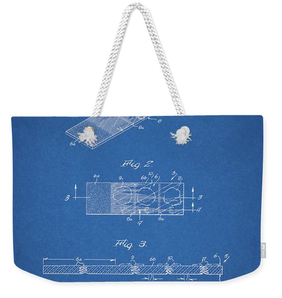 Microscope Slide Patent Weekender Tote Bag