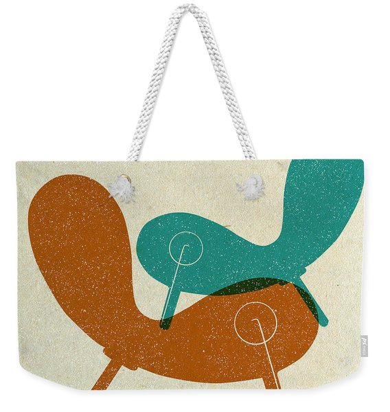 Mid Century Chair Collage II Weekender Tote Bag
