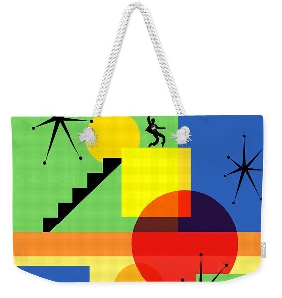 Mid Century Modern Abstract Jailhouse Rock 20190106 Square Weekender Tote Bag