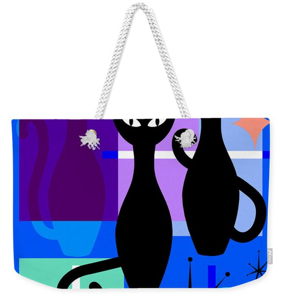 Mid Century Modern Abstract Mcm Bowling Alley Cats 20190113 M180 Weekender Tote Bag