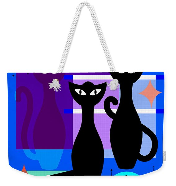 Mid Century Modern Abstract Mcm Bowling Alley Cats 20190113 Square M180 Weekender Tote Bag