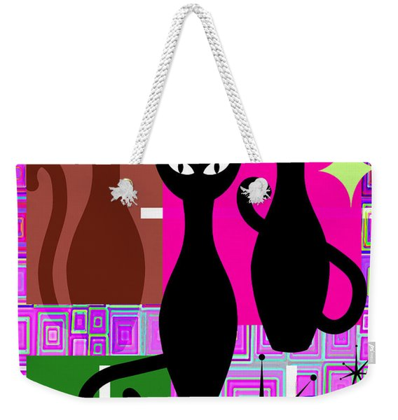 Mid Century Modern Abstract Mcm Bowling Alley Cats 20190113 V2m103 Weekender Tote Bag