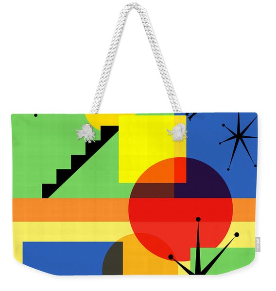 Mid Century Modern Abstract Over The Edge 20190106 Weekender Tote Bag