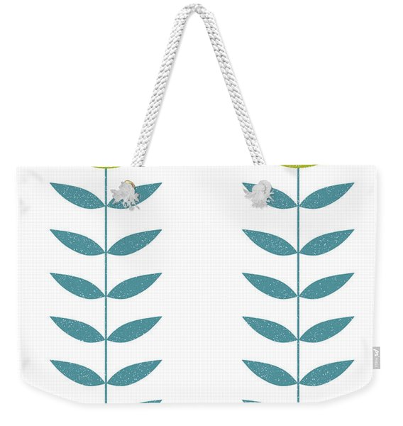 Mid Century Modern Yellow Flowers II Weekender Tote Bag