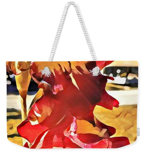Midcentury Floral Print 001 Weekender Tote Bag