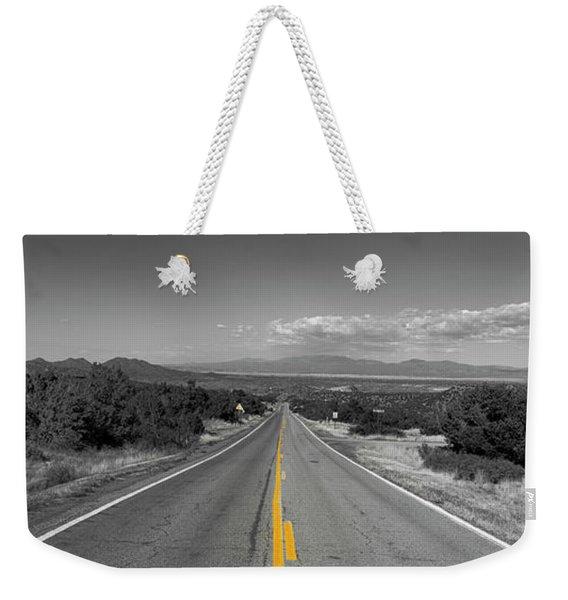 Middle Of The Road Weekender Tote Bag