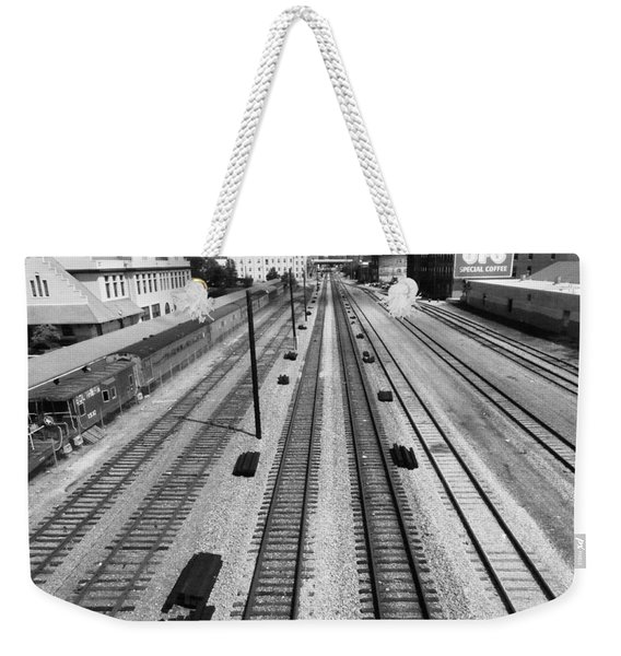 Middle Of The Tracks Weekender Tote Bag