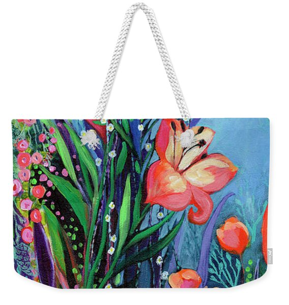 Midnight Garden Weekender Tote Bag