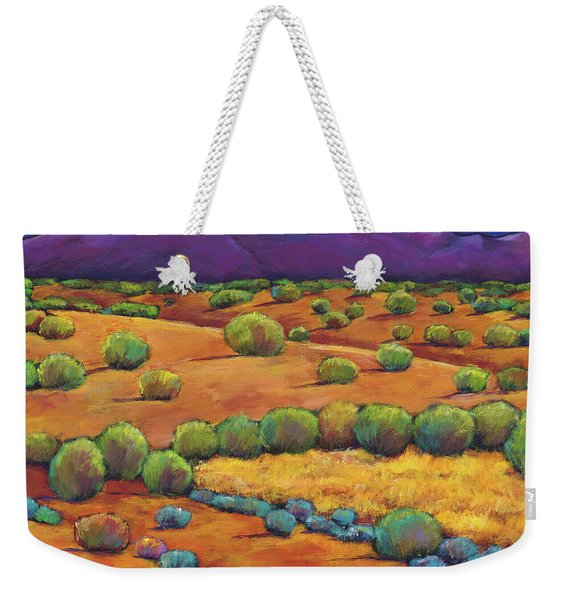 Midnight Sagebrush Weekender Tote Bag