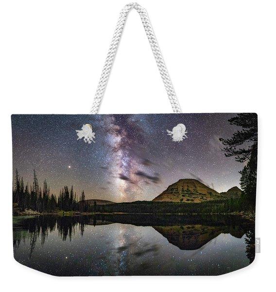 Milky Way At Mirror Lake Weekender Tote Bag