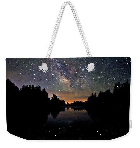 Milky Way At The Pond Weekender Tote Bag