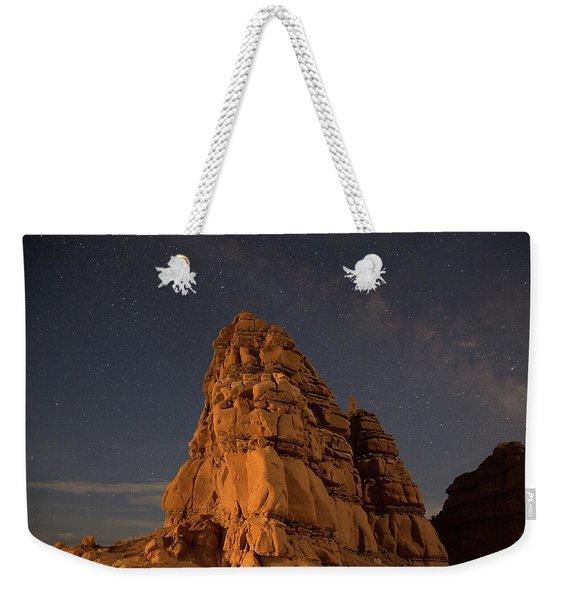 Milky Way On The Rocks Weekender Tote Bag