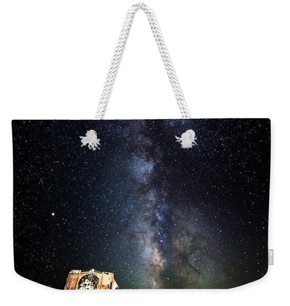 Milky Way Over Mojave Desert Graffiti 1 Weekender Tote Bag