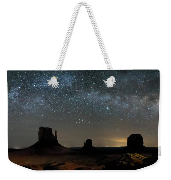 Milky Way Over Monument Valley Weekender Tote Bag