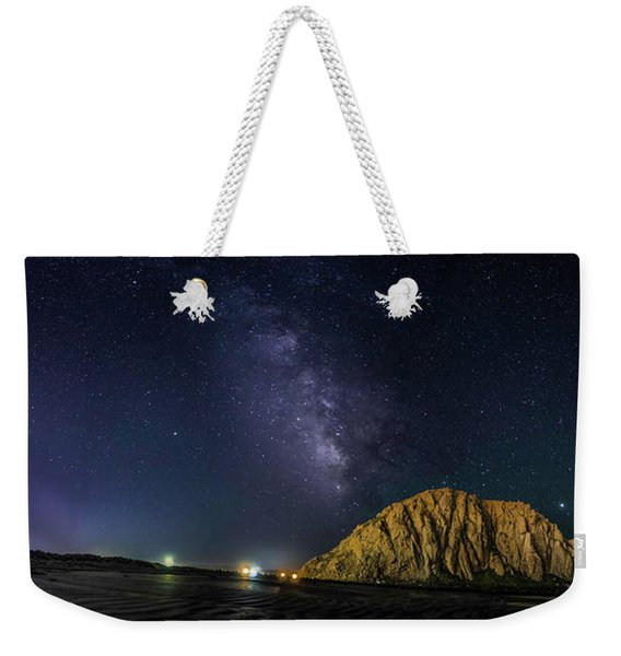 Milky Way Over Morro Rock Weekender Tote Bag