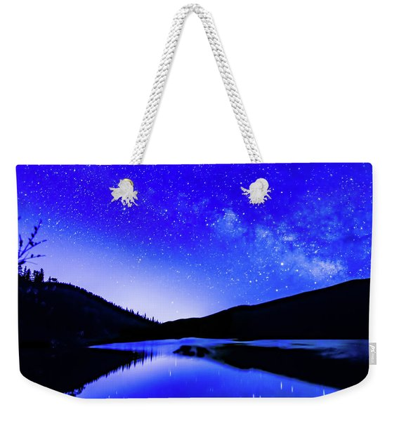Milky Way Over Springtime Echo Lake Weekender Tote Bag