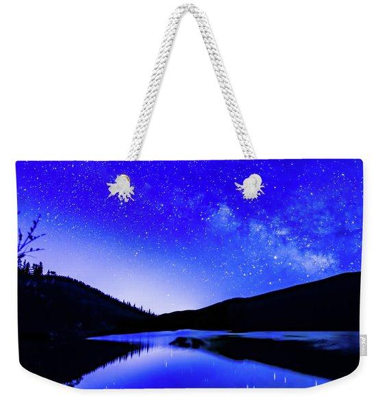 Milky Way Over Springtime Echo Lake Weekender Tote Bag