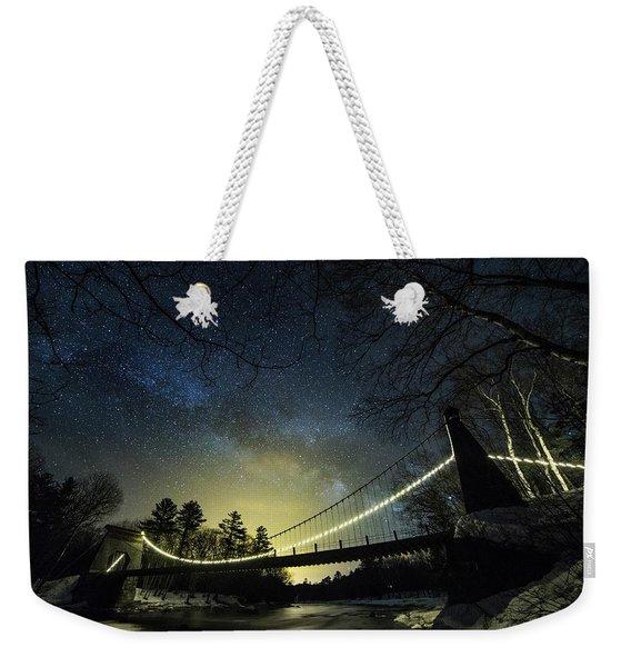 Milky Way Over The Wire Bridge Weekender Tote Bag