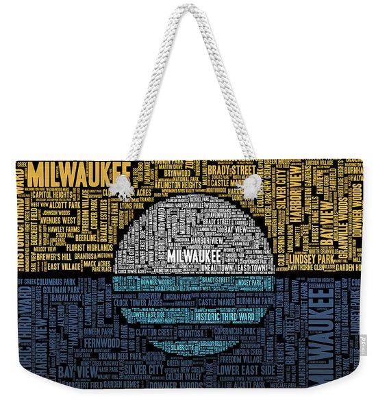 Milwaukee Neighborhood Word Cloud Weekender Tote Bag