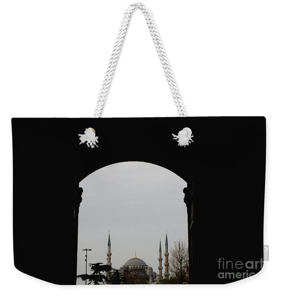 minarets in the city for the prayer of the Muslim religion Weekender Tote Bag