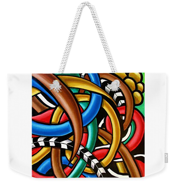 Colorful Abstract Art Painting Chromatic Intuitive Energy Art - Ai P. Nilson Weekender Tote Bag