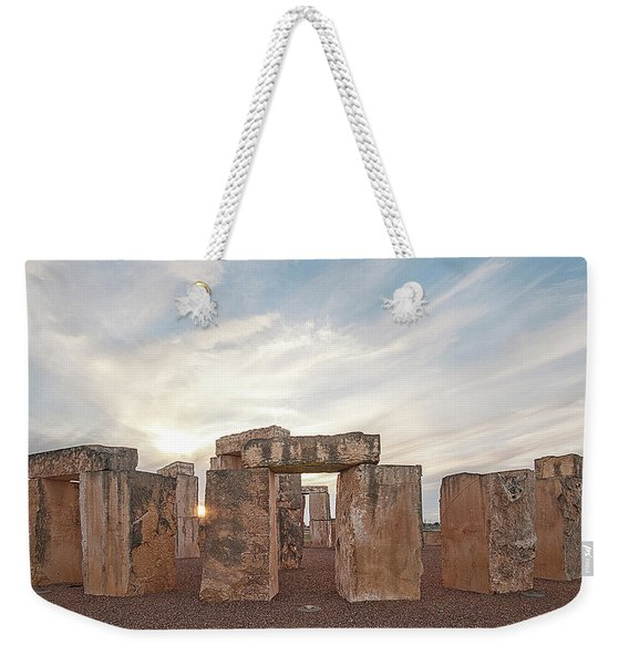 Weekender Tote Bag featuring the photograph Mini Stonehenge by Scott Cordell