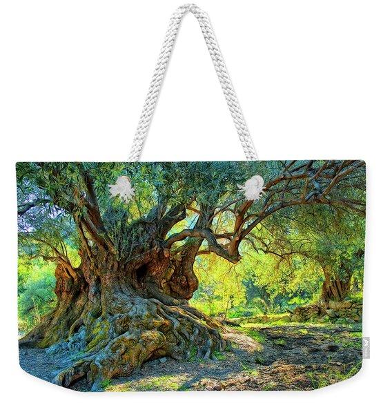 Minoan Olive Tree Weekender Tote Bag
