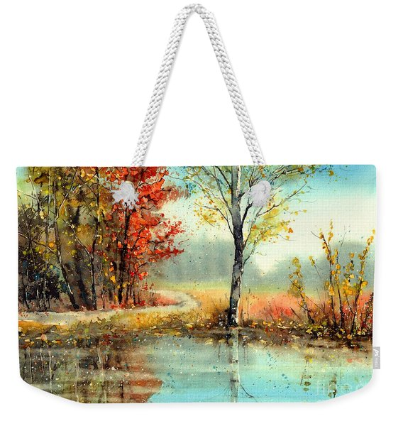 Mirror In The Lake Weekender Tote Bag